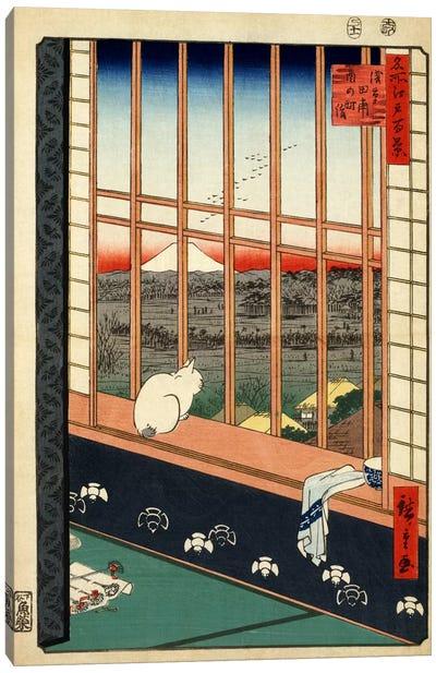 Askusa tanbo Torinomachi mode (Asakusa Ricefields and Torinomachi Festival) Canvas Art Print