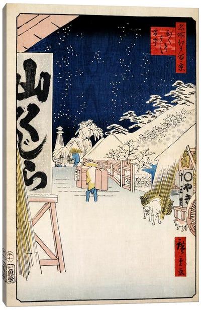 Bikunibashi setchu (Bikuni Bridge In Snow) Canvas Print #13648