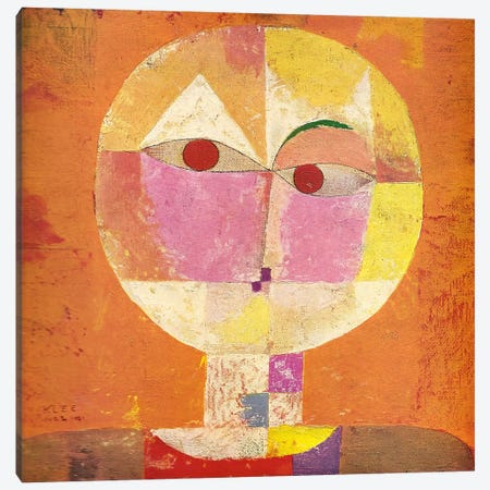 Senecio Canvas Print #1364} by Paul Klee Canvas Artwork