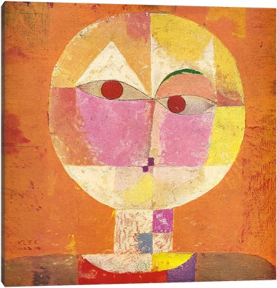 Senecio by Paul Klee Canvas Artwork
