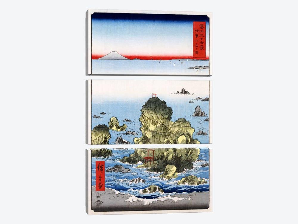 Ise Futami-ga-ura (Futami-ga-ura in Ise Province) by Utagawa Hiroshige 3-piece Canvas Art