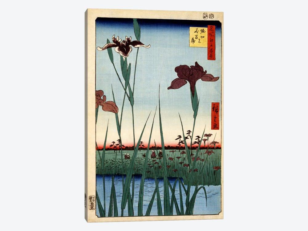 Horikiri no hanashobu (Horikiri Iris Garden) by Utagawa Hiroshige 1-piece Art Print
