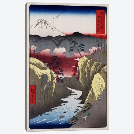 Kai Inume toge (Inume Pass in Kai Province) Canvas Print #13654} by Utagawa Hiroshige Canvas Artwork