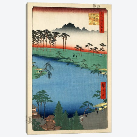 Tsunohazu Kumano Junisha zokusho Juniso (Kumano Junisha Shrine, Tsunohazu) Canvas Print #13655} by Utagawa Hiroshige Canvas Artwork