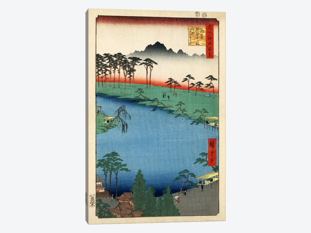 Tsunohazu Kumano Junisha zokusho Juniso (Kumano Junisha Shrine, Tsunohazu) by Utagawa Hiroshige 1-piece Canvas Art