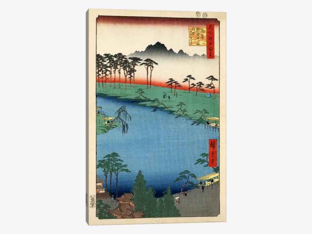 Tsunohazu Kumano Junisha zokusho Juniso (Kumano Junisha Shrine, Tsunohazu) by Utagawa Hiroshige 1-piece Canvas Art