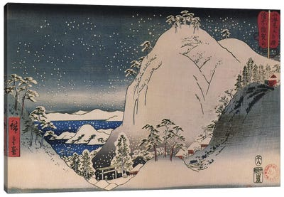 Shrines in Snowy Mountains by Ando Hiroshige Canvas Art