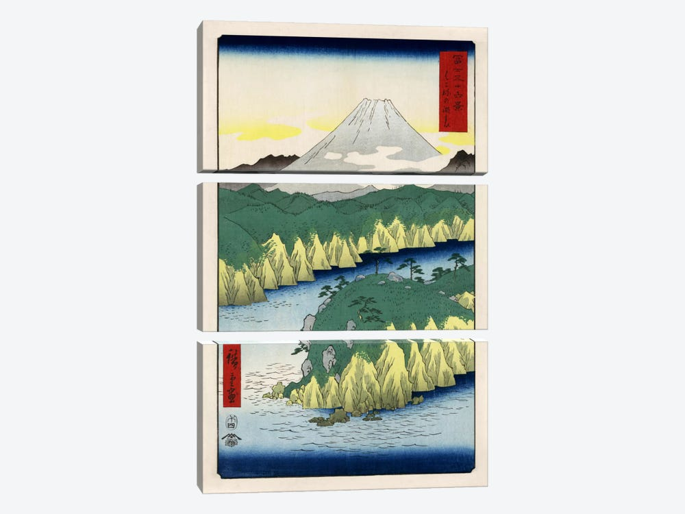 Hakone no kosui (Lake at Hakone) 3-piece Canvas Artwork