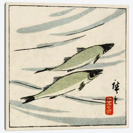 Ayu zu (River Trout) Canvas Print #13669} by Utagawa Hiroshige Canvas Artwork