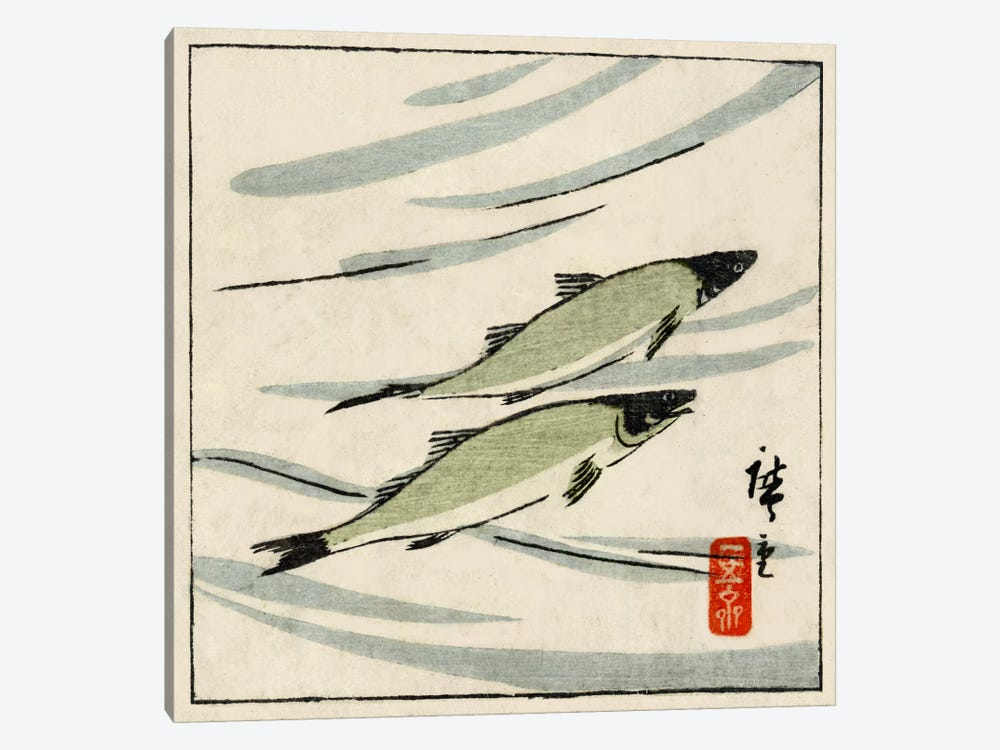 Ayu zu (River Trout) 1-piece Art Print
