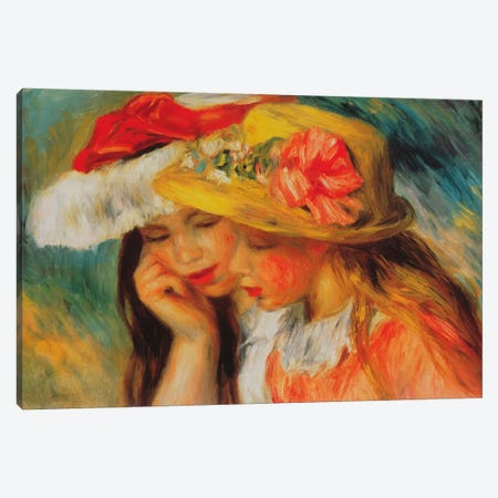Deux Soeurs (two Sisters) Canvas Print #1366} by Pierre-Auguste Renoir Canvas Wall Art