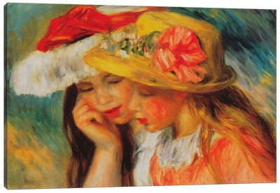 Deux Soeurs (two Sisters) by Pierre-Auguste Renoir Canvas Wall Art