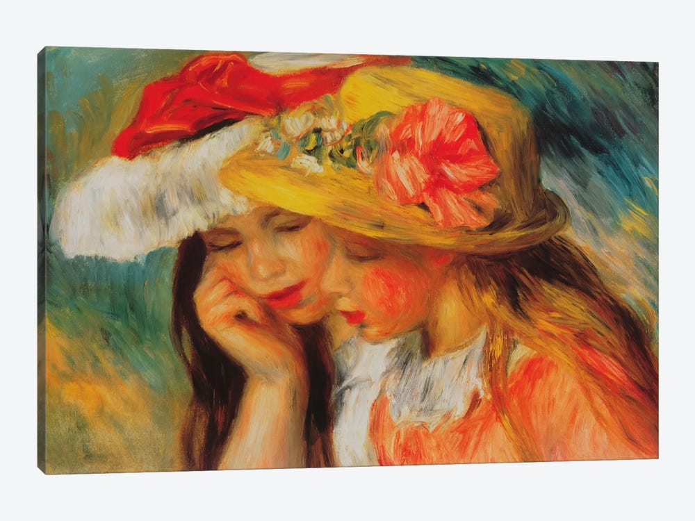 Deux Soeurs (two Sisters) by Pierre-Auguste Renoir 1-piece Canvas Art