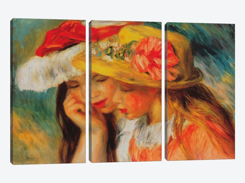 Deux Soeurs (two Sisters) by Pierre-Auguste Renoir 3-piece Canvas Artwork