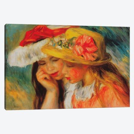 Deux Soeurs (two Sisters) Canvas Print #1366} by Pierre-Auguste Renoir Canvas Wall Art