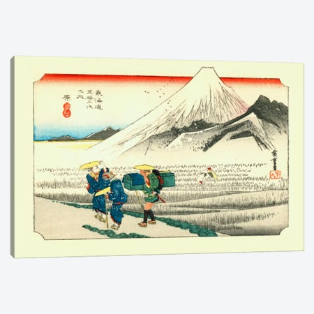 Hara, asa no Fuji (Hara: Mount Fuji in the Morning) Canvas Print #13675} by Utagawa Hiroshige Canvas Art
