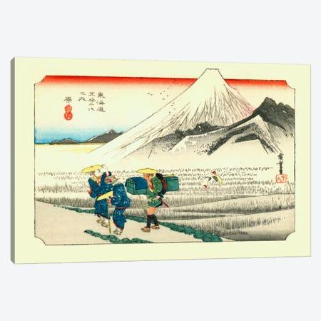 Hara, asa no Fuji (Hara: Mount Fuji in the Morning) Canvas Print #13675} by Utagawa Hiroshige Canvas Art