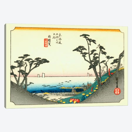 Shirasuka, Shiomizaka zu (Shirasuka: View of Shiomizaka) Canvas Print #13681} by Utagawa Hiroshige Canvas Art