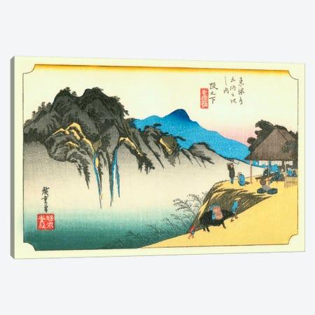 Sakanoshita, Fudesute mine (Sakanoshita: Fudesute Mountain) Canvas Print #13683} by Utagawa Hiroshige Canvas Wall Art