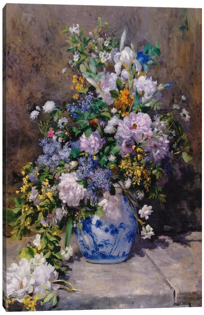Spring Bouque (grande Vaso Di Fiori) Canvas Art Print