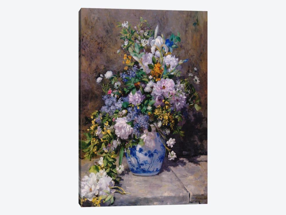 Spring Bouque (grande Vaso Di Fiori) by Pierre-Auguste Renoir 1-piece Canvas Art