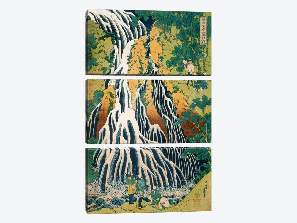 Kirifuri Waterfall on Mount Kurokami in Shimotsuke Province (Philadelphia Museum Of Art) by Katsushika Hokusai 3-piece Canvas Wall Art