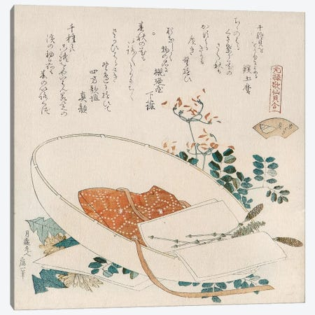 Myriad Grasses Shell (Chigusagai) Canvas Print #13694} by Katsushika Hokusai Canvas Artwork
