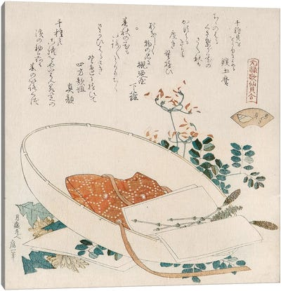 Myriad Grasses Shell (Chigusagai) by Katsushika Hokusai Canvas Artwork