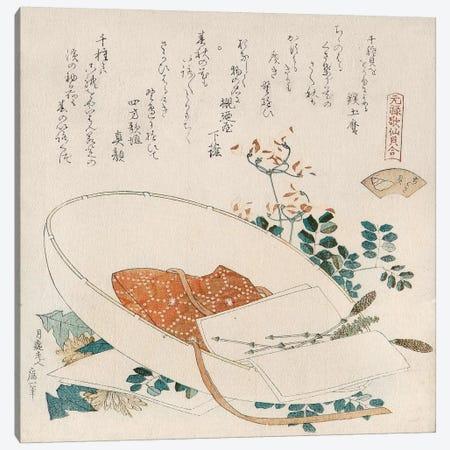 Myriad Grasses Shell (Chigusagai) Canvas Print #13694} by Katsushika Hokusai Canvas Artwork