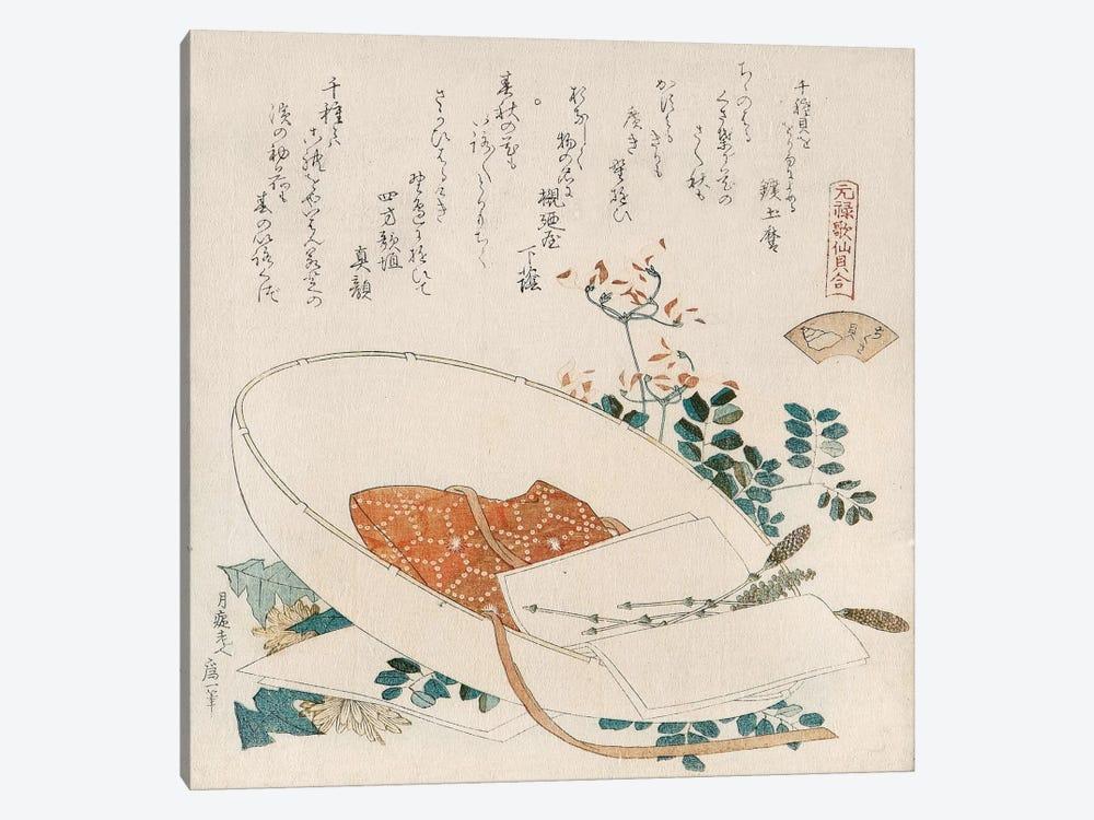 Myriad Grasses Shell (Chigusagai) by Katsushika Hokusai 1-piece Canvas Print