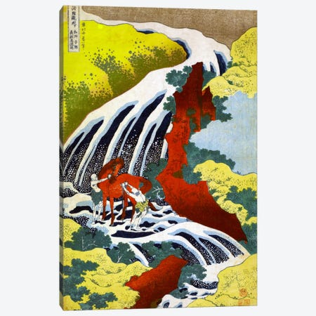 Yoshitsune Falls Canvas Print #13696} by Katsushika Hokusai Canvas Artwork