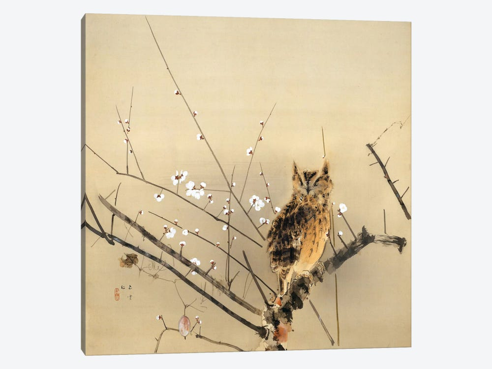 Early Plum Blossoms by Nishimura Goun 1-piece Canvas Print