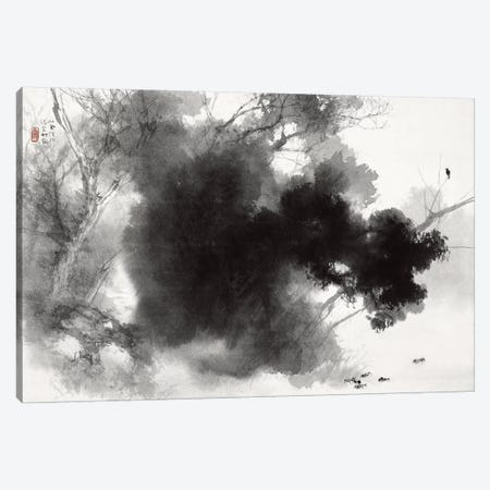 Birds at Roost Canvas Print #13707} by Takeuchi Seiho Canvas Wall Art