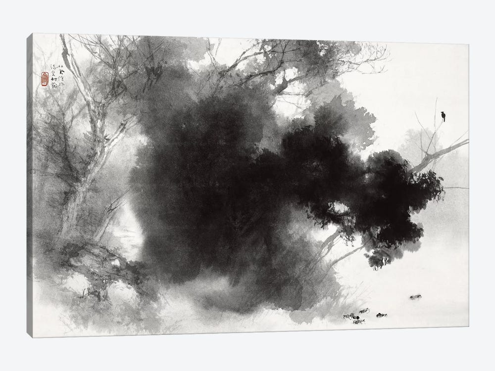 Birds at Roost by Takeuchi Seiho 1-piece Canvas Artwork