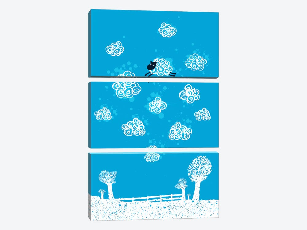 Just Like a Cloud by Budi Satria Kwan 3-piece Canvas Print