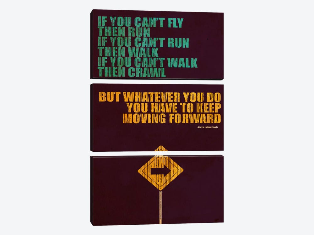 Keep Moving Forward by Budi Satria Kwan 3-piece Art Print