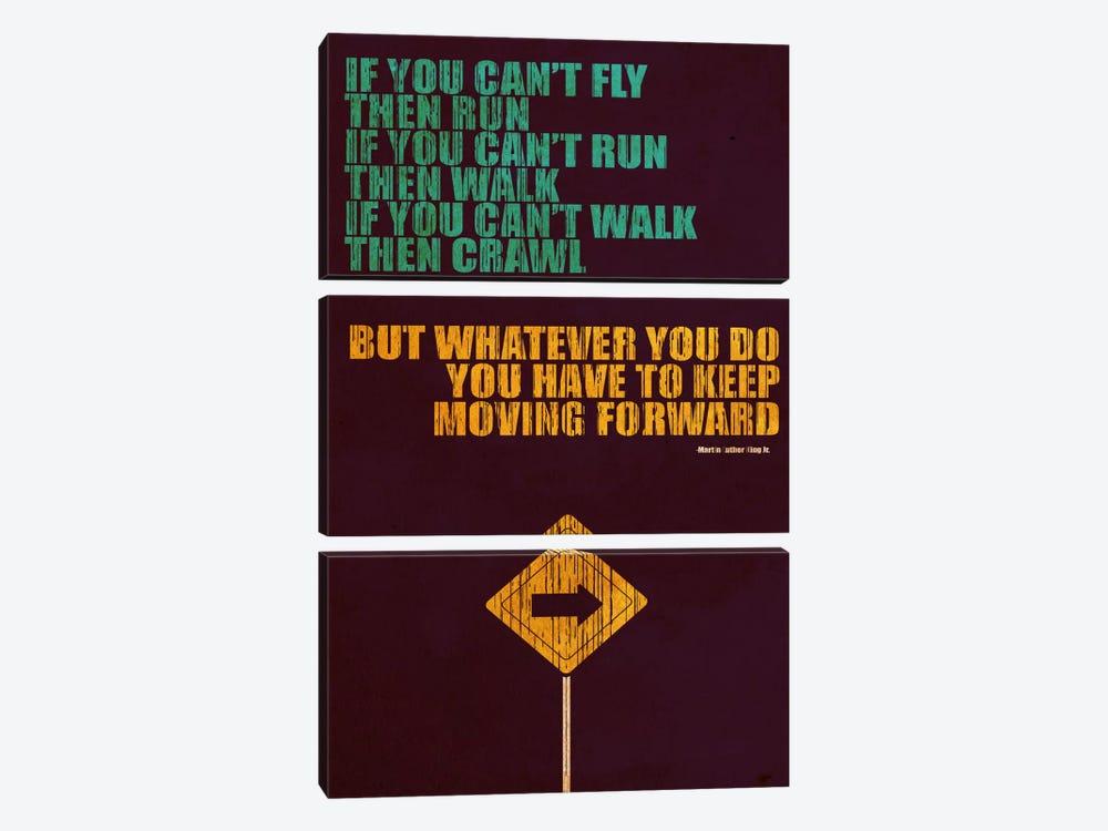 Keep Moving Forward by Budi Satria Kwan 3-piece Art Print