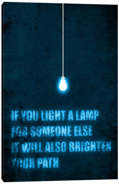 Light a Lamp Canvas Art Print
