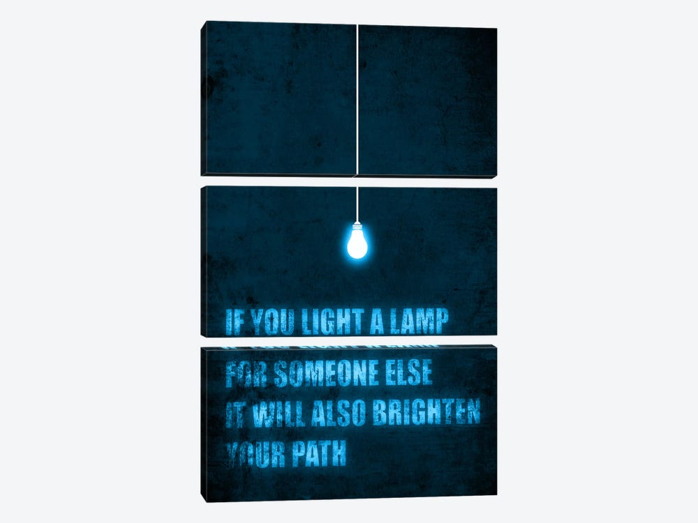 Light a Lamp by Budi Satria Kwan 3-piece Canvas Art