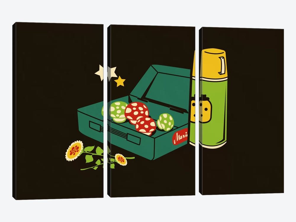 Lunchtime by Budi Satria Kwan 3-piece Canvas Art Print
