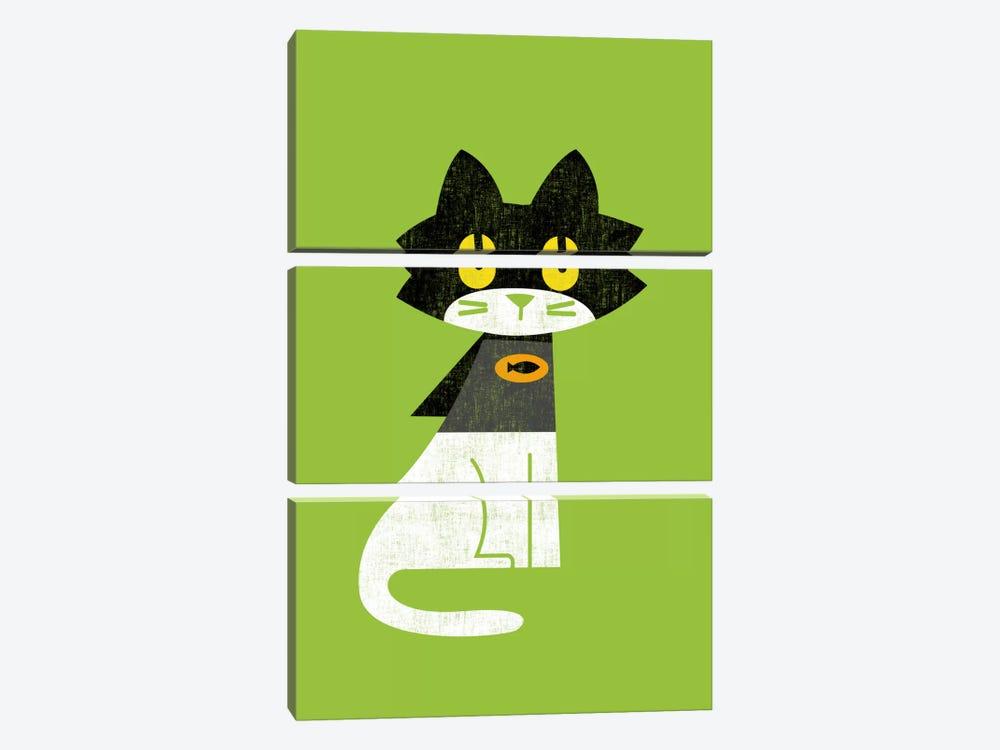 Mark Batcat by Budi Satria Kwan 3-piece Canvas Artwork