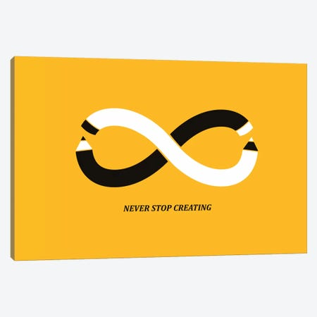 Never Stop Creating Canvas Print #13818} by Budi Satria Kwan Art Print