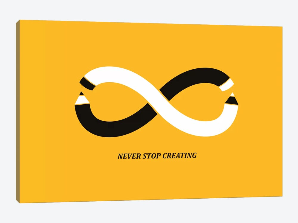 Never Stop Creating by Budi Satria Kwan 1-piece Canvas Art