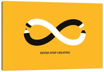 Never Stop Creating Canvas Art Print