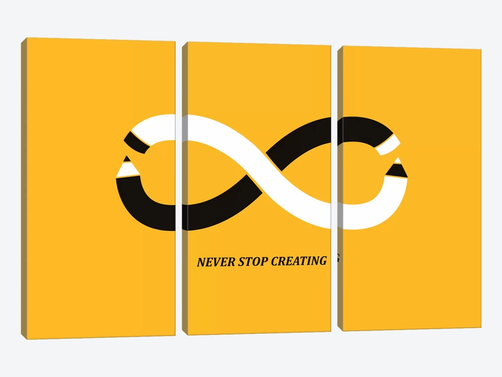 Never Stop Creating by Budi Satria Kwan 3-piece Canvas Art