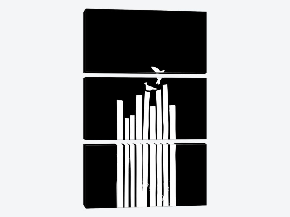 On The Fence by Budi Satria Kwan 3-piece Canvas Print