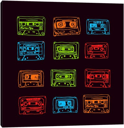 Our Mixtape Canvas Art Print