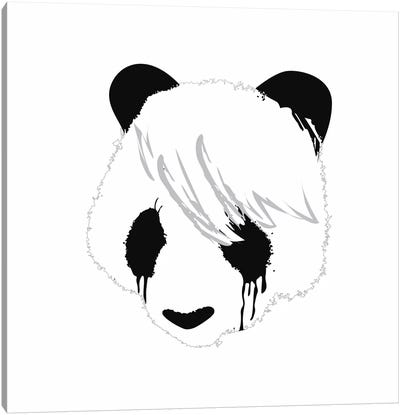 Sad Panda Canvas Art Print
