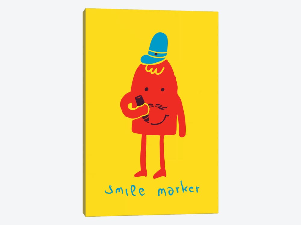 Smile Marker by Budi Satria Kwan 1-piece Canvas Art Print