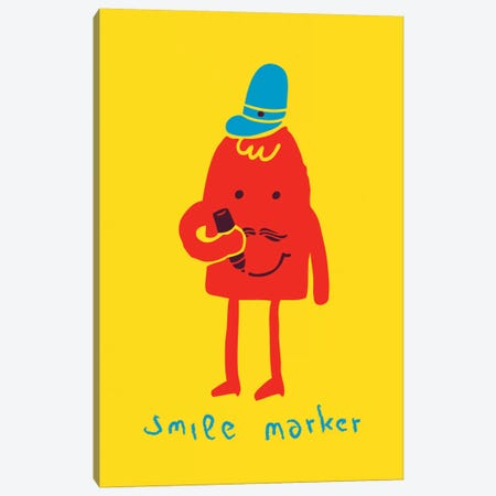 Smile Marker Canvas Print #13828} by Budi Satria Kwan Canvas Art